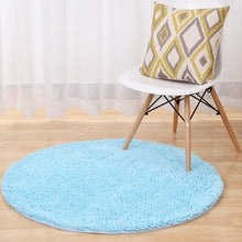 Load image into Gallery viewer, Chenille Round Rug