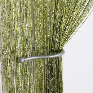 Beaded Sheer Door Panel Curtains