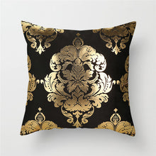 Load image into Gallery viewer, Black Gold Foil Cushion Covers