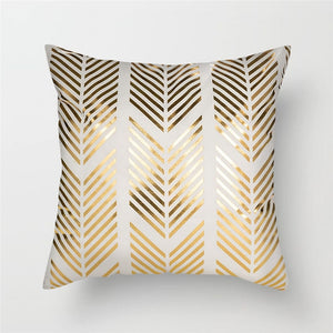 Black Gold Foil Cushion Covers