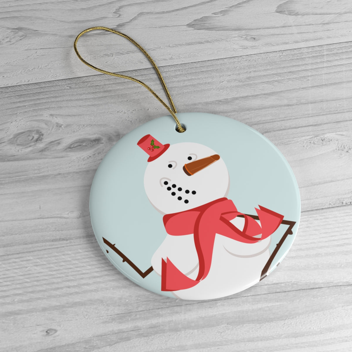 """Mrs. Sassy Snowman"" Tree Ornament"