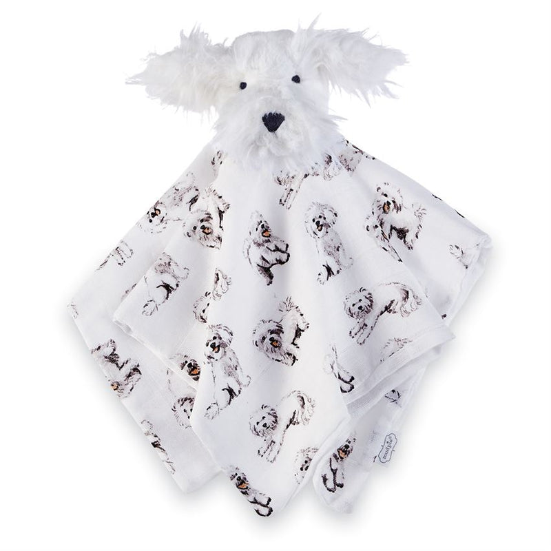 Furry Pup Snuggle & rattle - Gift Shop Wrought 'n Apples