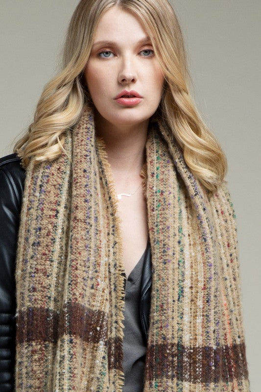 Multi Color Warm Scarf - Gift Shop Wrought 'n Apples