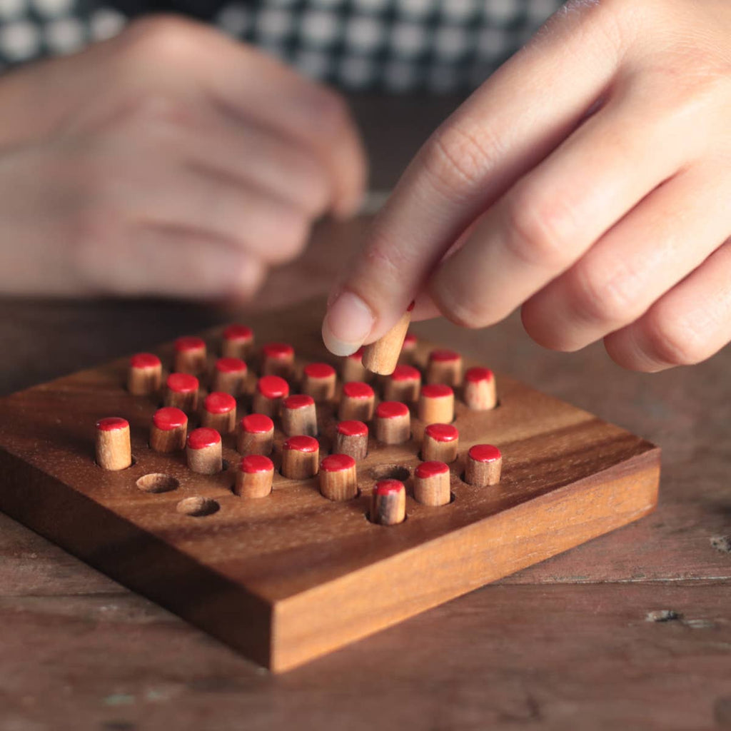 Solitaire Wooden Game - Gift Shop Wrought 'n Apples
