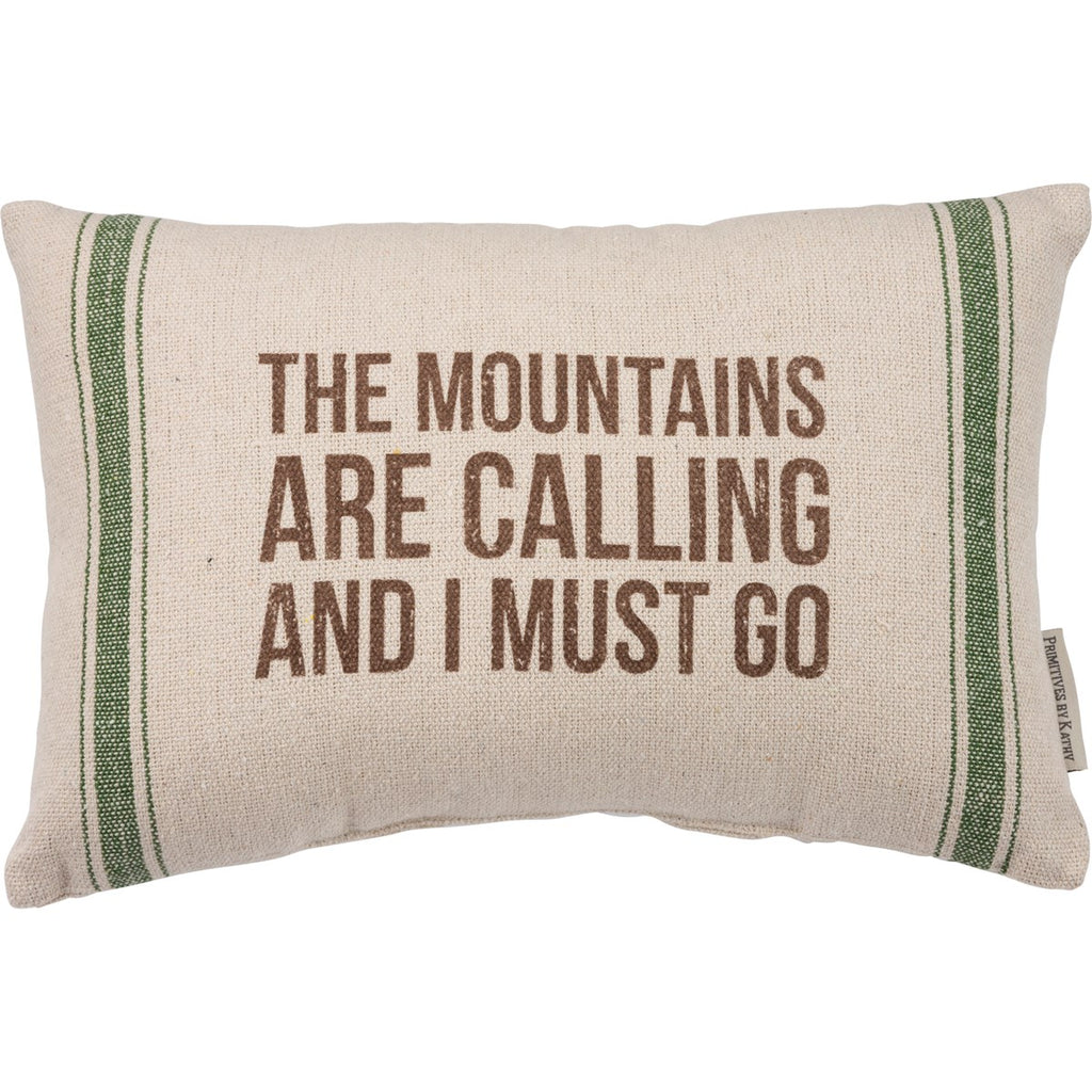 Mountains are calling pillow - Gift Shop Wrought 'n Apples