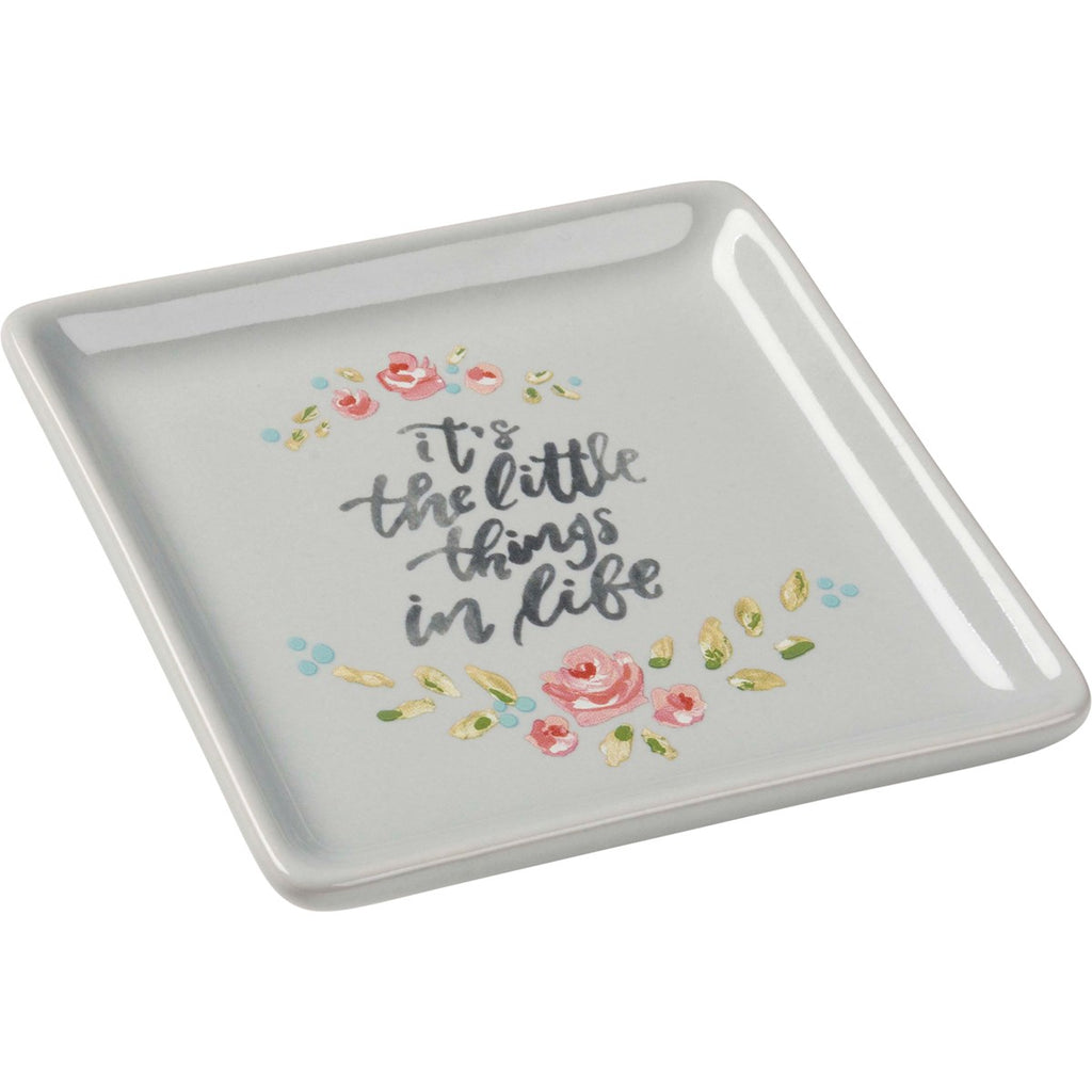 It's the little things trinket tray - Gift Shop Wrought 'n Apples