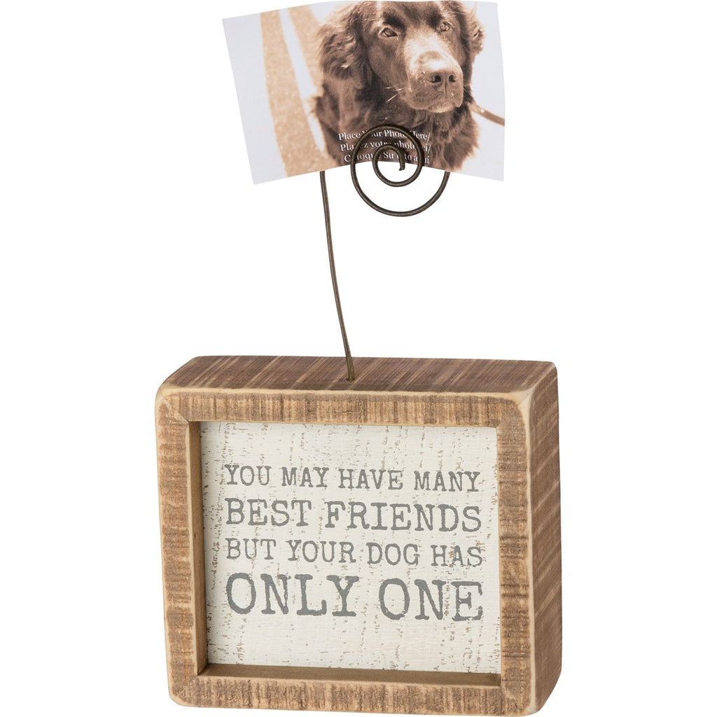 Best Friend Dog Photo holder - Gift Shop Wrought 'n Apples