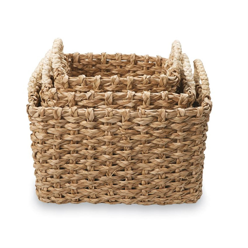 Cattail Straw Baskets - Gift Shop Wrought 'n Apples
