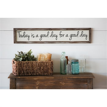 Today is a Good Day Wooden Wall Art - Gift Shop Wrought 'n Apples