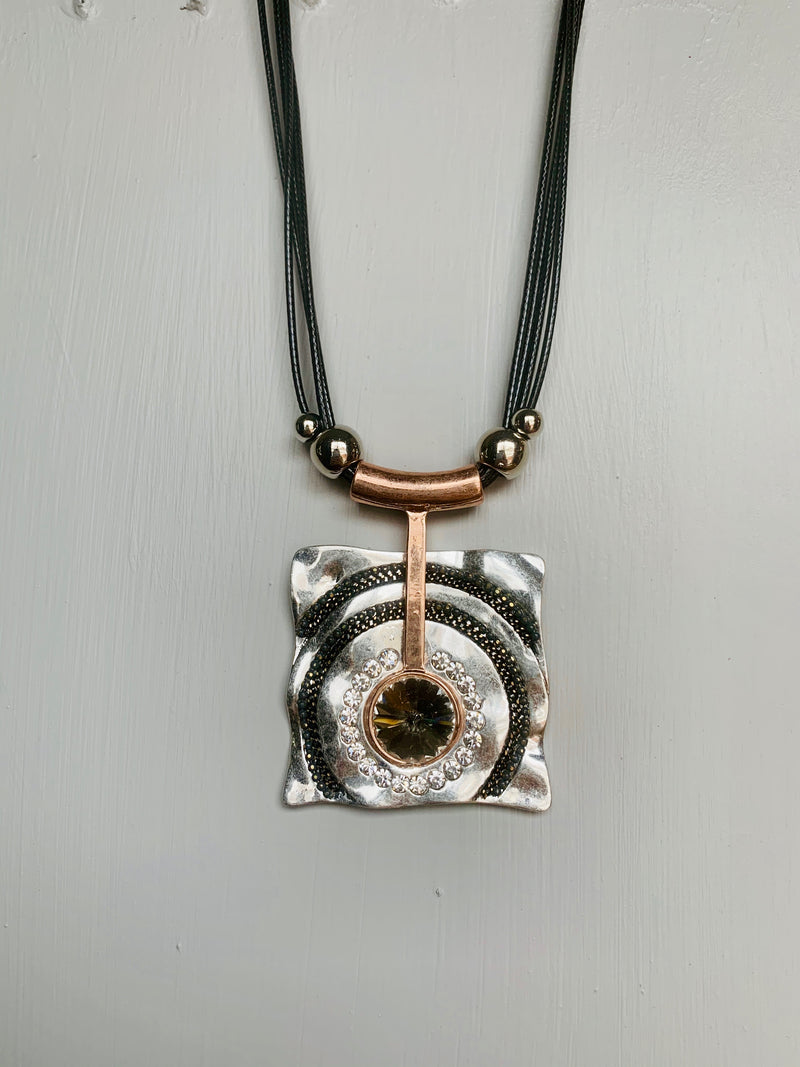 Rose Gold and Silver  Necklace - Gift Shop Wrought 'n Apples