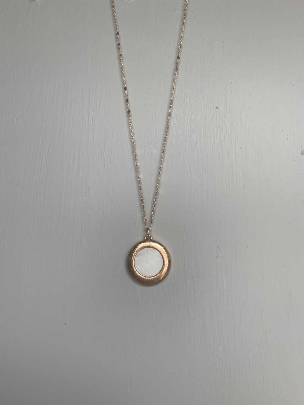 Gold & Marble Circle Necklace - Gift Shop Wrought 'n Apples