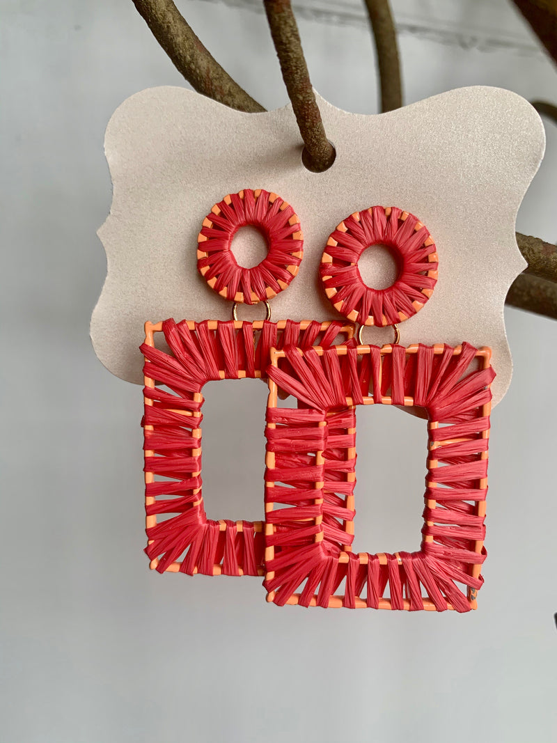 Rectangle Wrap Earrings - Gift Shop Wrought 'n Apples