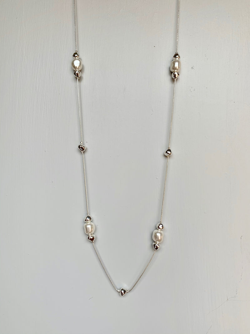 Silver & Pearl Necklace - Gift Shop Wrought 'n Apples