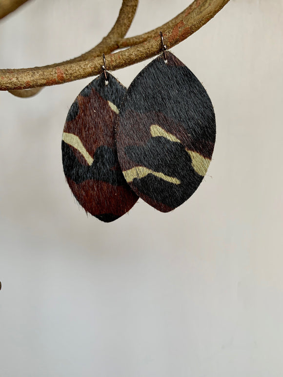 Camo Print Earrings - Gift Shop Wrought 'n Apples
