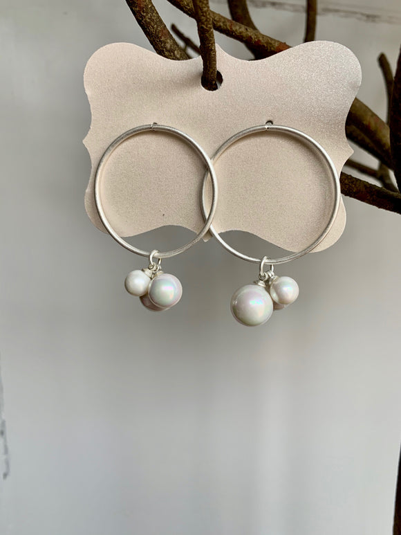 Silver & Pearl Earrings - Gift Shop Wrought 'n Apples
