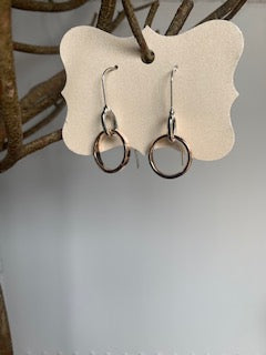 Simple Silver and Rose Gold Earrings - Gift Shop Wrought 'n Apples