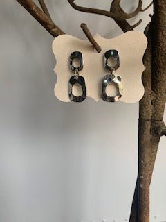 Silver Textured Dangle Earrings - Gift Shop Wrought 'n Apples