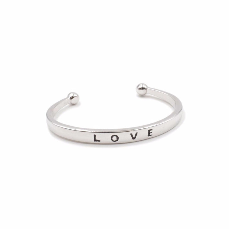 Kinsley Armelle Silver Love Bracelet - Gift Shop Wrought 'n Apples