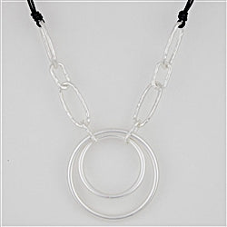 Silver and Black Necklace - Gift Shop Wrought 'n Apples