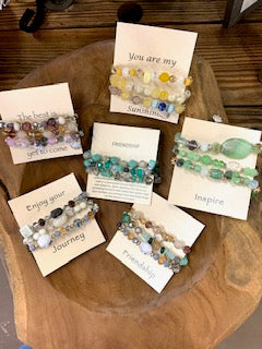 Stax Bracelet's on Inspirational Card - Gift Shop Wrought 'n Apples