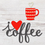 I Love Coffee Magnet Set - Gift Shop Wrought 'n Apples