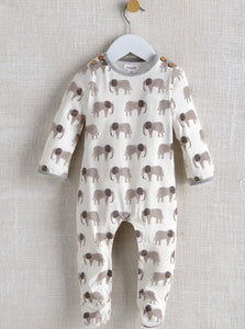 Elephant sleeper with soft gray colors