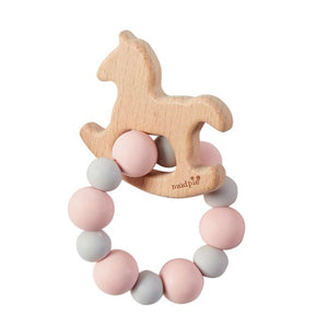 Rocking Horse Wood and Silicone Teether