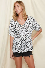 Leopard Baby Doll Top