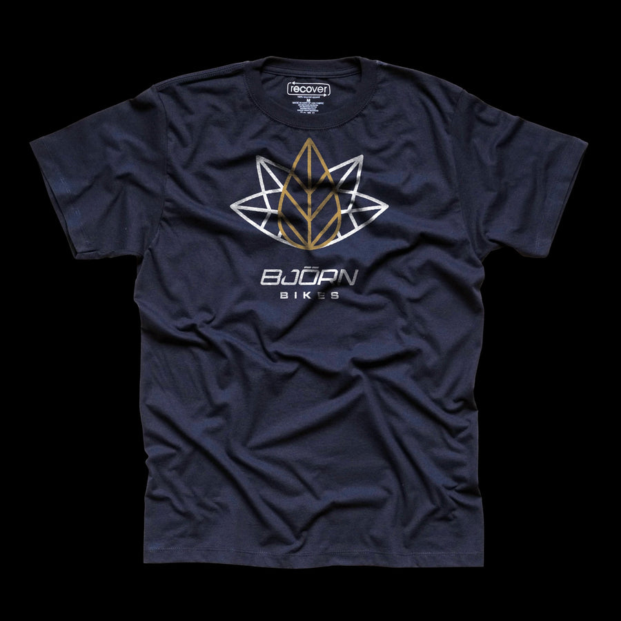Bjorn Crown Leaf Short Sleeve T-Shirt - Navy