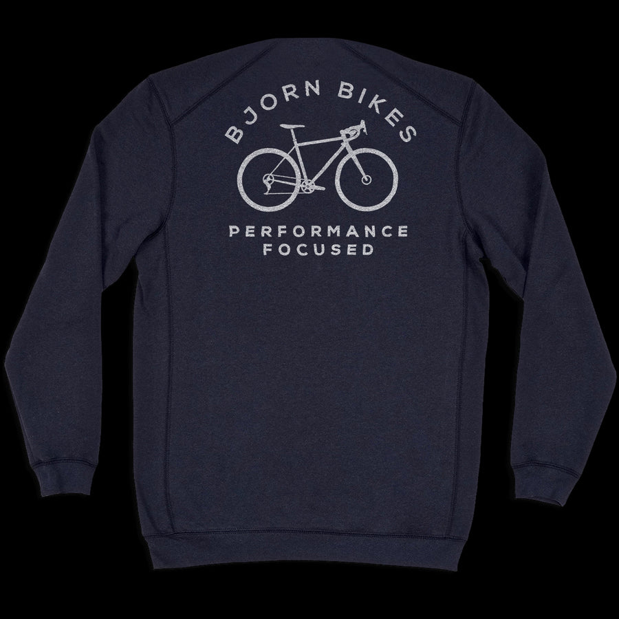 Front of Bjorn Cycle Navy Navy Crew Neck Sweater