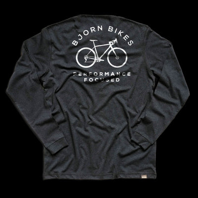 Back of Bjorn Cycle Carbon Grey Long Sleeve T-Shirt