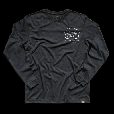 Front of Bjorn Cycle Carbon Grey Long Sleeve T-Shirt