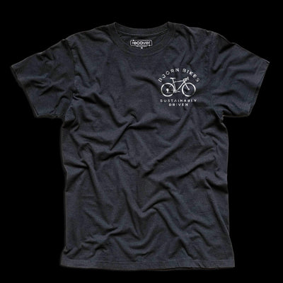 Front of Bjorn Cycle Carbon Grey Short Sleeve T-Shirt
