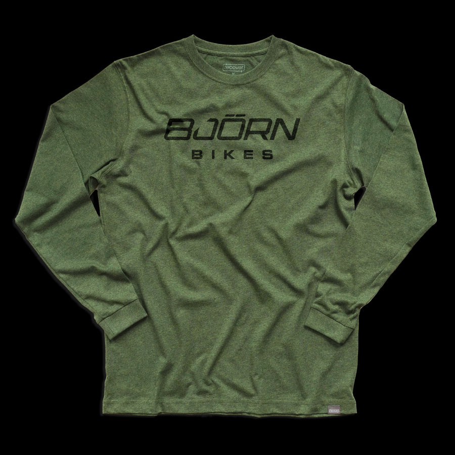Bjorn Logo Long Sleeve T-Shirt - Grass Green