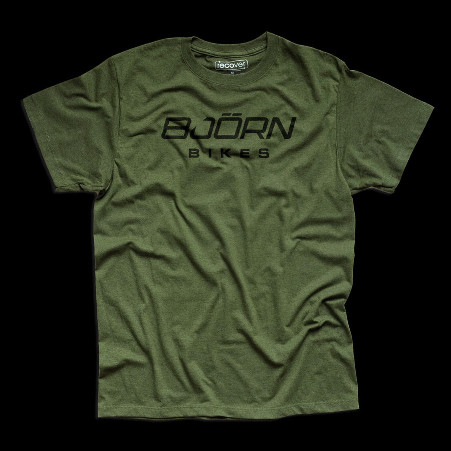 Bjorn Logo Short Sleeve T-Shirt - Grass Green