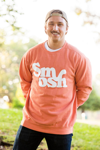 Shayne Topp from Smosh wearing Retro Logo Crewneck in Terracotta