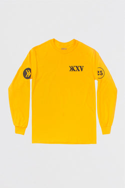Official Smosh merch 25 Million Subscribers yellow long-sleeve tee