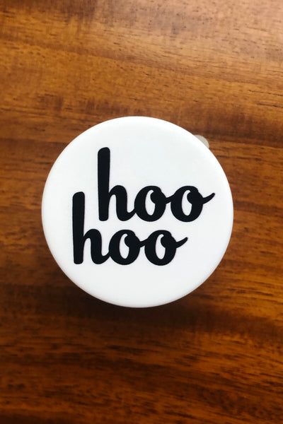 Courtney Miller from Smosh's black and white Hoo Hoo Popsocket