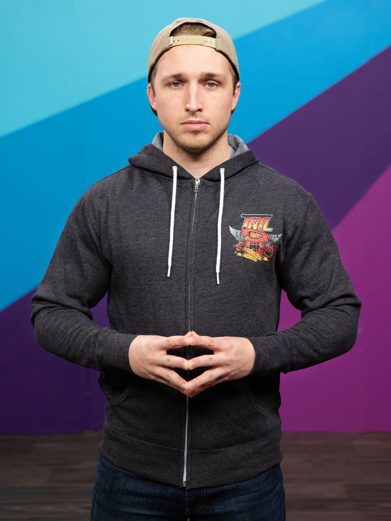 Shayne Topp from Smosh wears Try Not to Laugh Tour Hoodie
