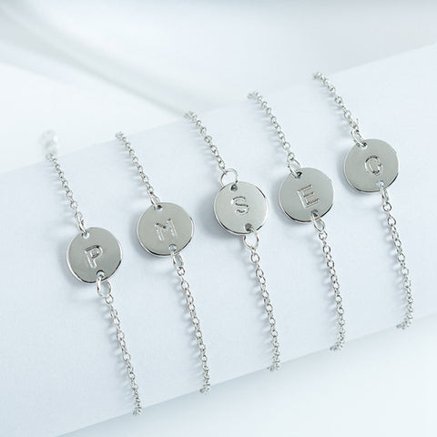 Unique Personalized 26 English Alphabet Bracelet Gift For Her