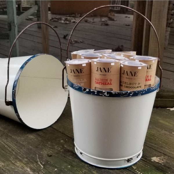 Tin Pail Of Cookie Sleeves - jane bakes inc