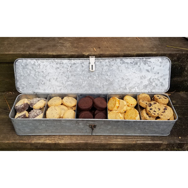 Galvanized Box Of Cookies - jane bakes inc