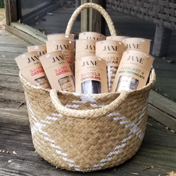 Woven Tote Of Cookie Sleeves - jane bakes inc