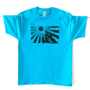 Albert Hofmann Bicycle Day Tribute Men's T-shirt in Turquoise