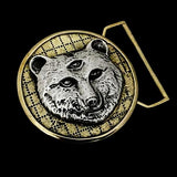 "Owsley ""BEAR"" Tribute Buckle cast in Yellow Brass & Sterling Silver"