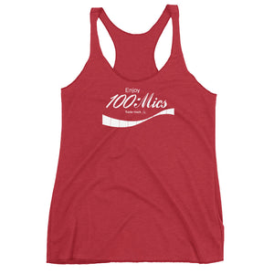 Enjoy 100mics Women's Racer Back Tank - Vintage Red