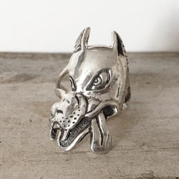 Wolf Ring Cast in Sterling Silver
