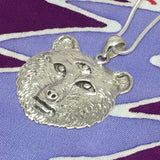 "Owsley ""Bear"" Stanley Tribute Pendant Cast in Sterling Silver on Chain"