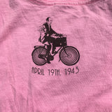 Pink Medium Albert Hofmann Bicycle Day Tribute Tee