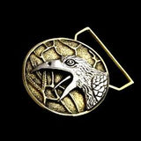 The Raven Limited Edition Belt Buckle Cast in Yellow Brass & Sterling Silver